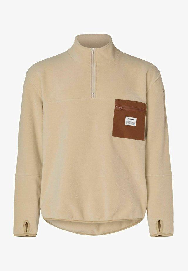 Fleece trui - beige