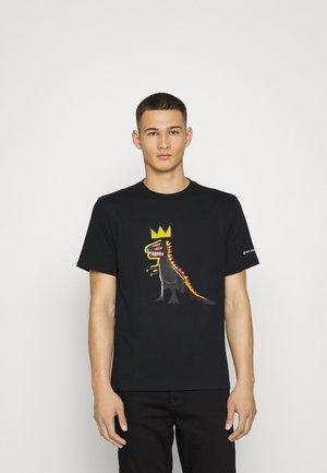 BASQUIAT GRAPHIC TEE UNISEX - T-shirt print - black