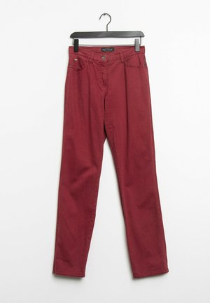 Straight leg jeans - red