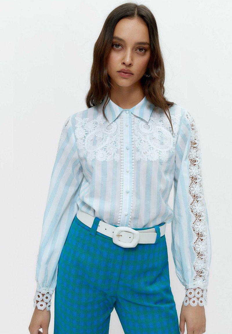 Uterqüe - Button-down blouse - multi-coloured