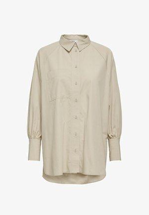 OVERSIZE - Button-down blouse - humus