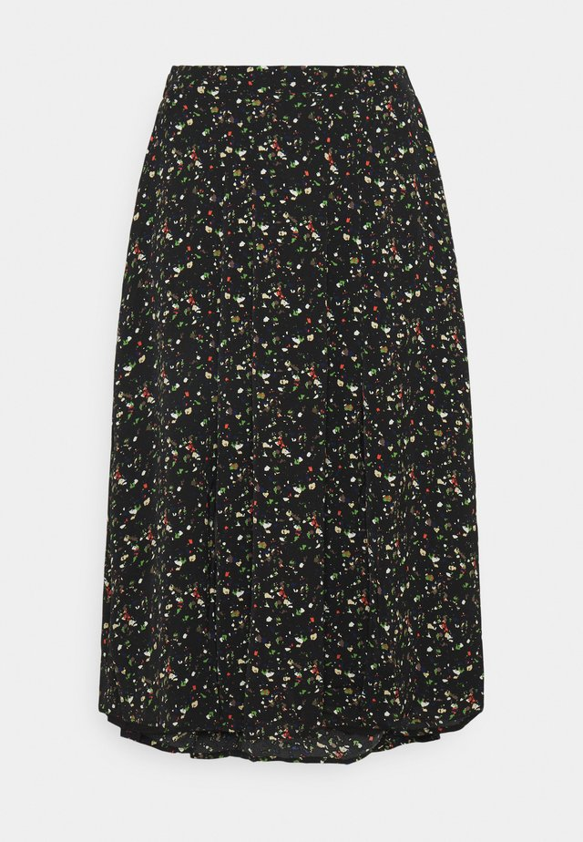 SMUDGE SKIRT - A-line skjørt - black smudge print new
