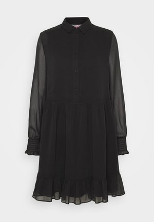TIERED LINE DRESS - Košilové šaty - black