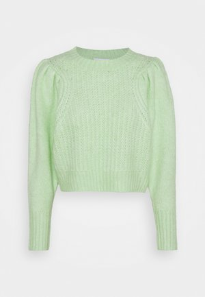 PLEAT CROP - Jumper - green