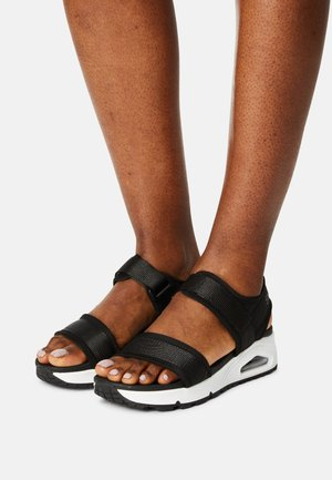 UNO - Sandals - black/white