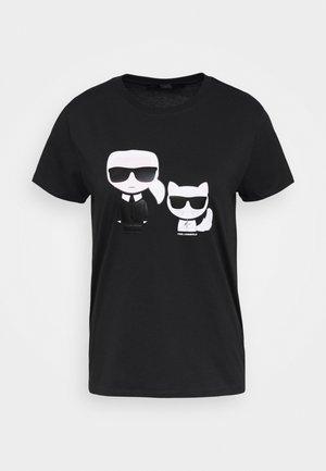 IKONIK CHOUPETTE TEE - Print T-shirt - black