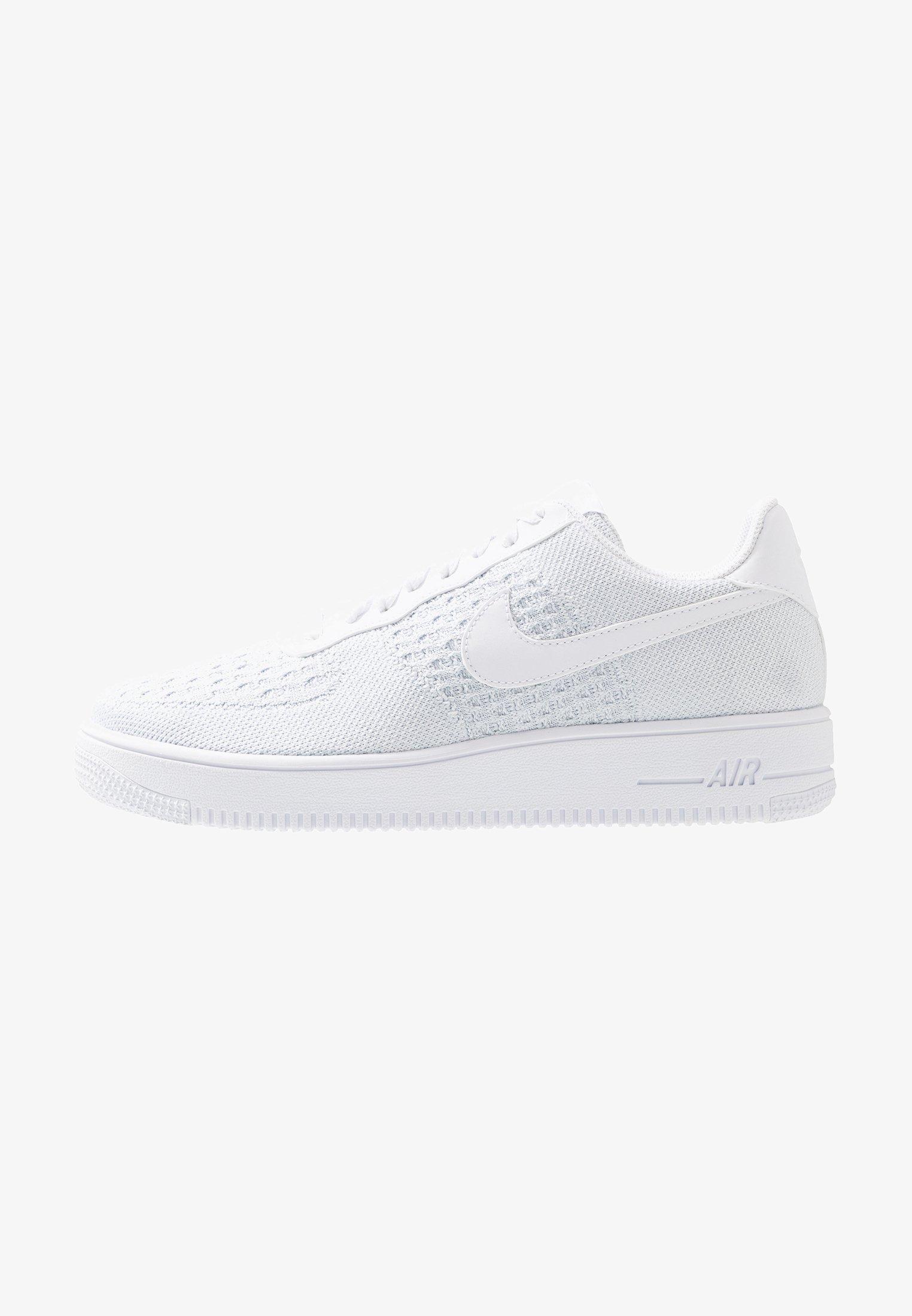 isla Pila de Malgastar  Nike Sportswear AIR FORCE 1 FLYKNIT 2.0 - Trainers - white/pure  platinum/white - Zalando.co.uk