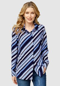 Laura Kent - Button-down blouse - marinebla weiß - 0