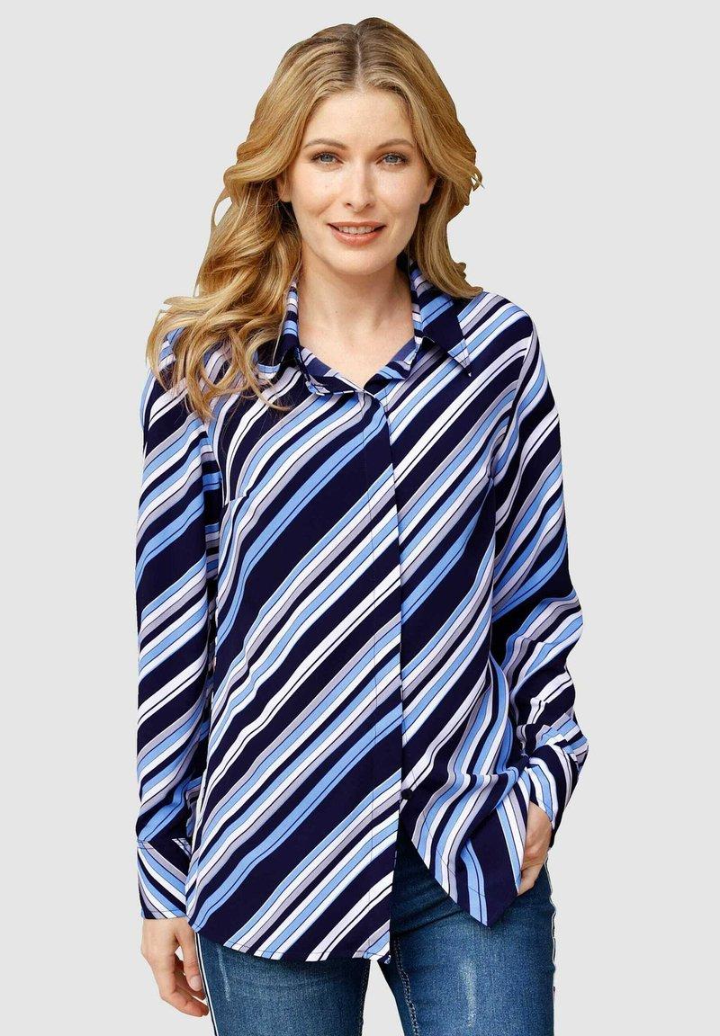 Laura Kent - Button-down blouse - marinebla weiß