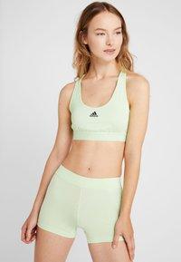 adidas Performance - DRESS SET - Sportovní šaty - black/glow green - 3