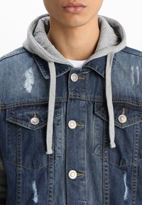 Brave Soul - Denim jacket - blue denim/grey - 3