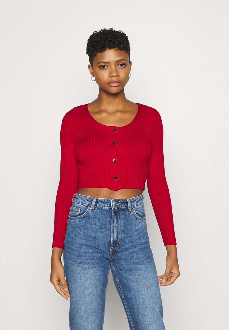 Monki - ALIANA CARDIGAN - Cardigan - red
