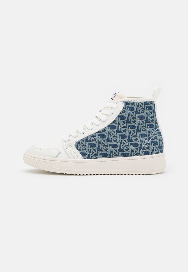LIQUIRIZIA TOP MONOGRAM - Baskets montantes - offwhite/blu