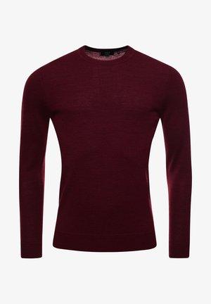 Pullover - rich deep burgundy marl