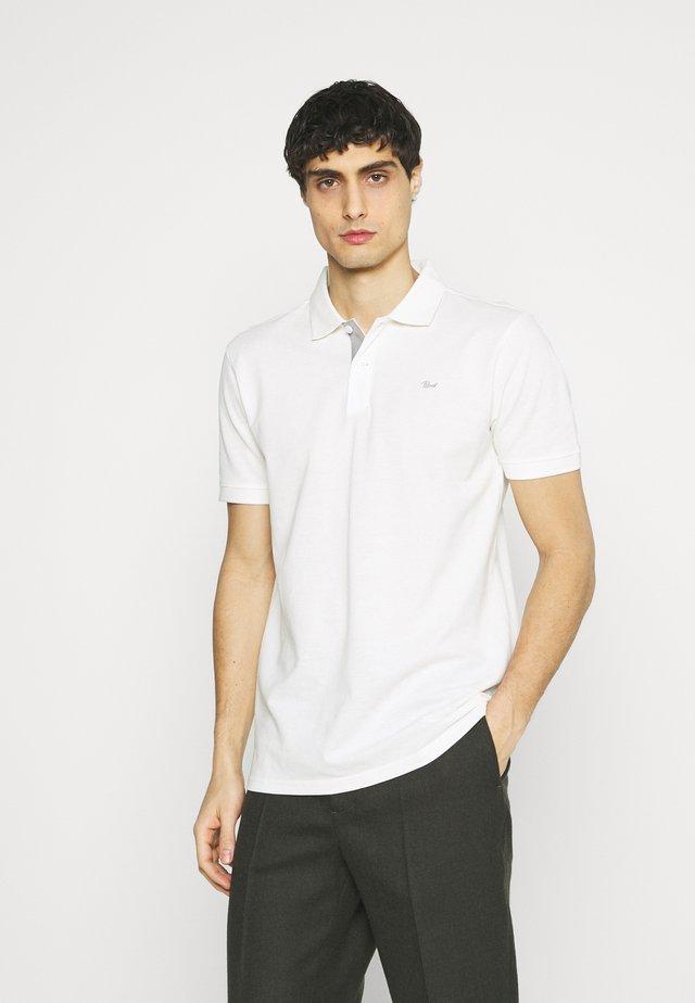 Koszulka polo - bright white/light grey mel