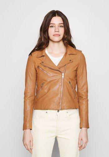 VMMILANO JACKET - Leather jacket - cognac