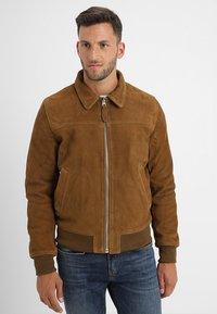 Schott - OFFICIER - Leather jacket - rust - 3