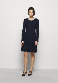 M Missoni - ABITO - Gebreide jurk - dark blue - 0