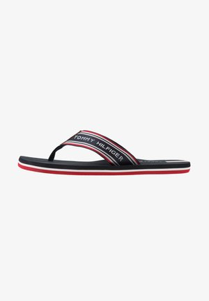 LOGO TAPE BEACH  - T-bar sandals - blue