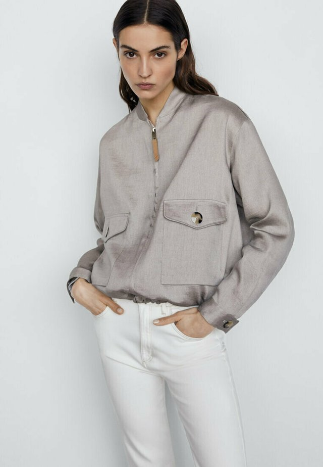 Bomber Jacket - silver