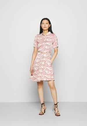 MILA DRESS - Shirt dress - white/pink