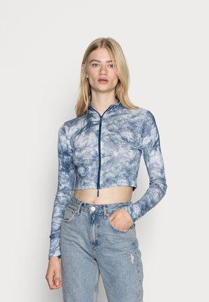 TIE DYE ZIP FRONT - Long sleeved top - blue