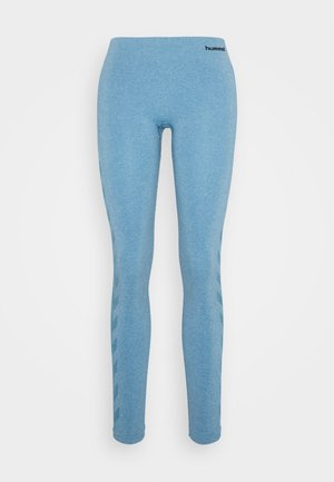 CLASSIC BEE SEAMLESS - Medias - faded denim melange