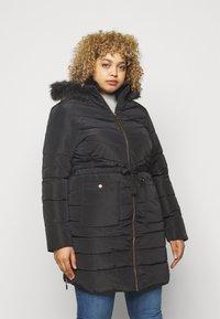 CAPSULE by Simply Be - LUXE LONGLINE PADDED COAT - Winter coat - black - 0