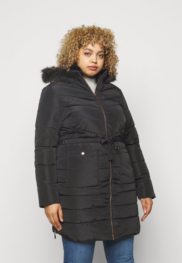 LUXE LONGLINE PADDED COAT - Cappotto invernale - black