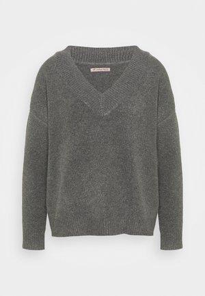 Jumper - mottled dark grey