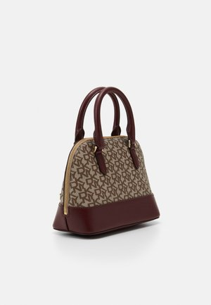 BRYANT DOME SATCHEL LOGO - Handbag - chino/aged wine