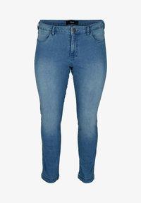 Zizzi - Slim fit jeans - light blue - 2