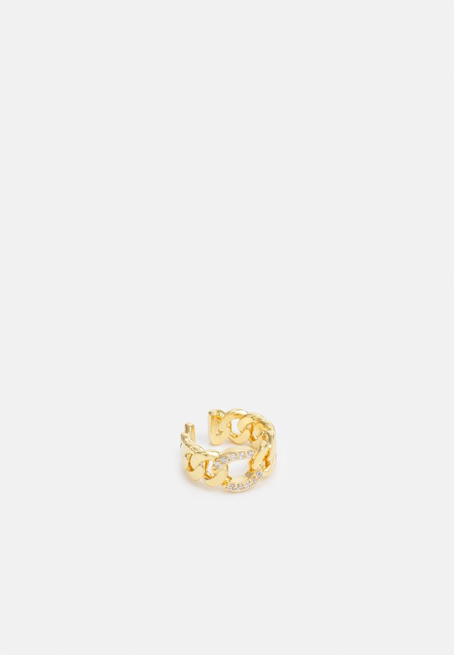CHAIN PAVE LINK EAR CUFF - Boucles d'oreilles - gold-coloured