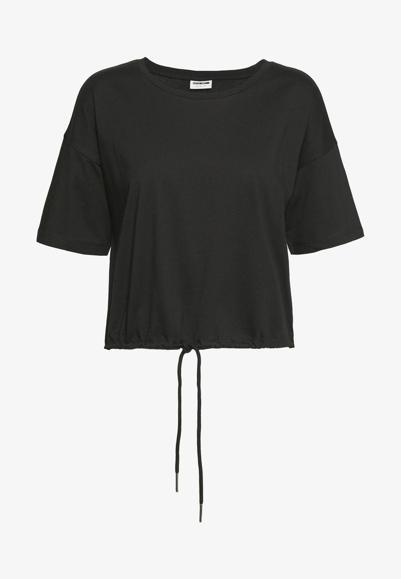 Noisy May - NMDURU LOOSE STRING - Print T-shirt - black