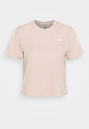 FOUNDATION CROP TEE - Basic T-shirt - pearl blush heather