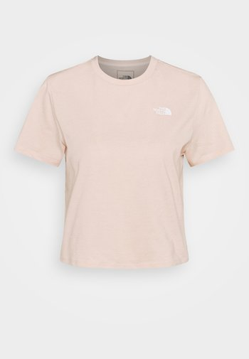 FOUNDATION CROP TEE - Basic T-shirt - pearl blush heather