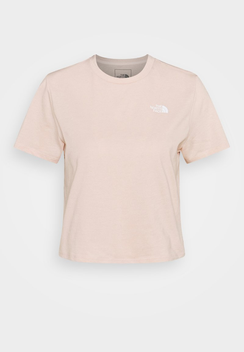 The North Face - FOUNDATION CROP TEE - Basic T-shirt - pearl blush heather