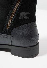 Sorel - EMELIE FOLD-OVER - Winter boots - black - 5
