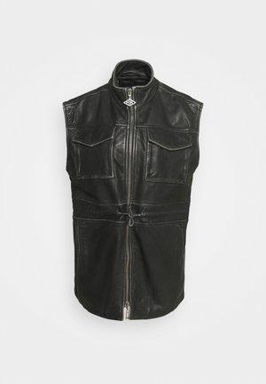 DESK VEST - Waistcoat - black