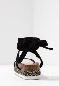 Public Desire - REMI - Sandály na platformě - black - 5