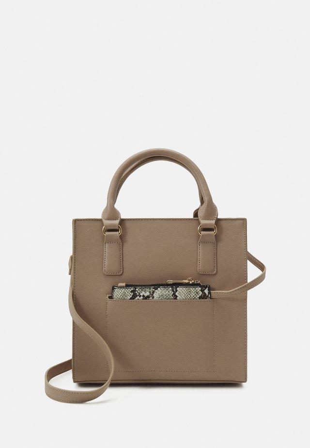 Handbag - pink/beige