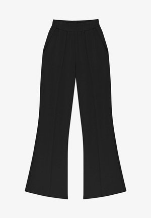 FLARE FIT - Trousers - black