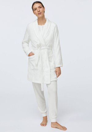 DOTTY ECRU SOFT - Dressing gown - white