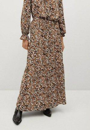 ELI-A - Maxi skirt - black/brown