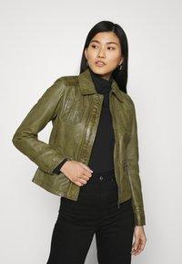 Oakwood - IOTA - Leather jacket - khaki - 3