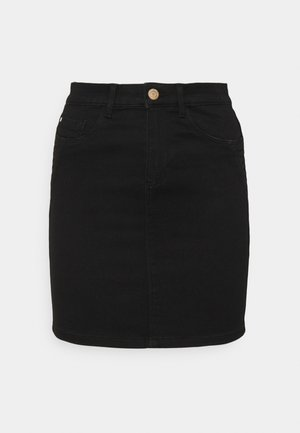 ONLROYAL LIFE SKIRT BIKER - Mini skirt - black denim