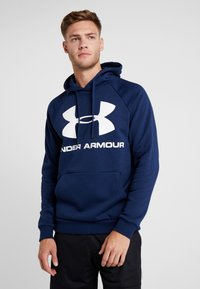 Under Armour - RIVAL SPORTSTYLE LOGO HOODIE - Hættetrøjer - academy/white - 0