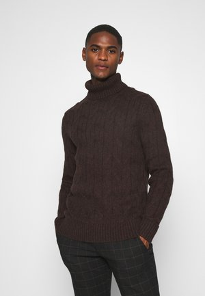 Jumper - mottled dark brown