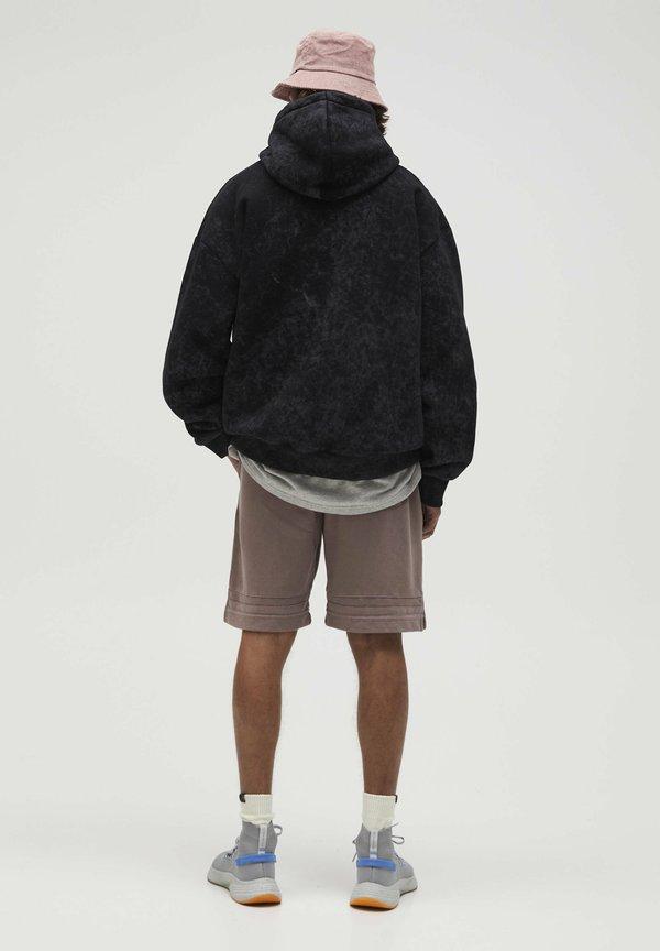 PULL&BEAR Bluza z kapturem - black/czarny Odzież Męska YYIC
