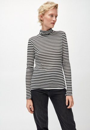MALENAA STRIPES - Langarmshirt - black